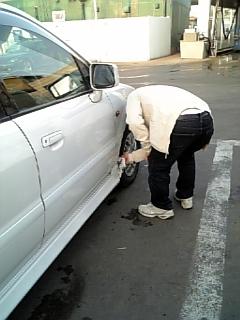 洗車日和(   ^▽^)σ)  ゜ー゜)